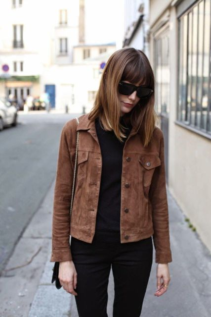 Picture Of Suede Jacket Outfits For Stylish Ladies