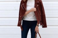 18 Suede Jacket Outfits For Stylish Ladies10