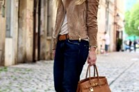 18 Suede Jacket Outfits For Stylish Ladies17
