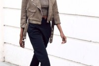 18 Suede Jacket Outfits For Stylish Ladies6