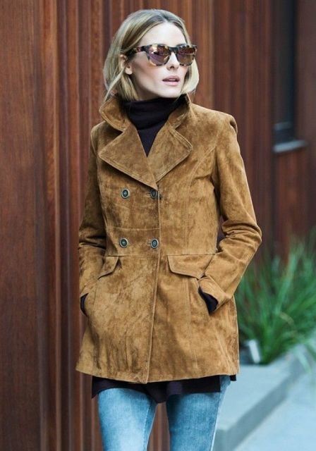 Picture Of Suede Jacket Outfits For Stylish Ladies 7
