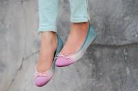 Colorful DIY Dip Dye Ombre Ballet Flats3