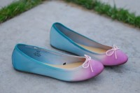 Colorful DIY Dip Dye Ombre Ballet Flats4