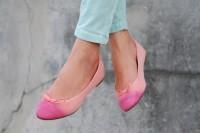 Colorful DIY Dip Dye Ombre Ballet Flats5