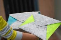 Comfy DIY Neon Envelope Clutch6