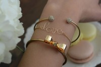 DIY Wire Love Bracelet With Tassel