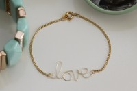 DIY Wire Love Bracelet With Tassel2