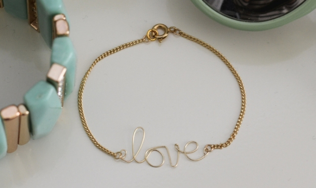 Picture Of DIY Wire Love Bracelet With Tassel 2