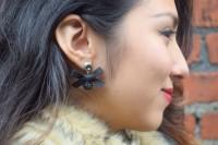 Elegant DIY Bow And Crystal Drop Earrings