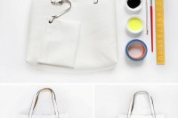Funny DIY Leather Painted Tote2
