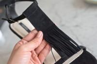 Stylish DIY Fringe Heels5