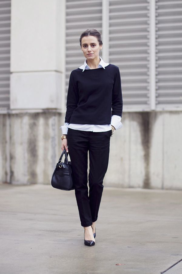 Picture Of chic layered outfits for work  12