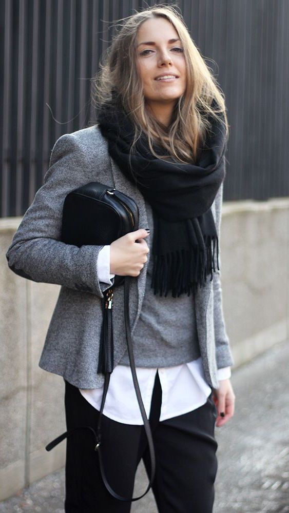 Picture Of chic layered outfits for work 13