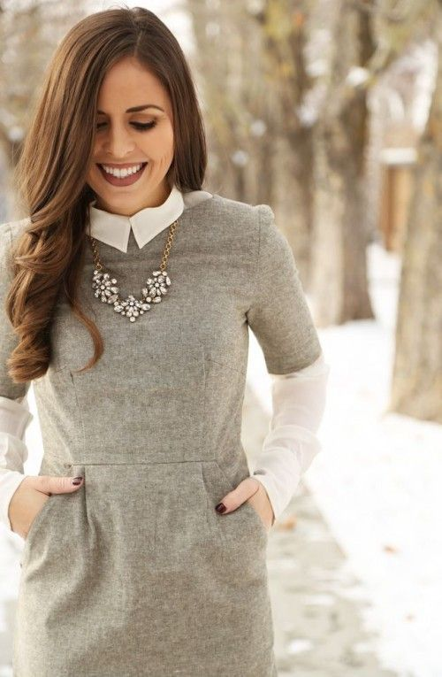 Picture Of chic layered outfits for work  15