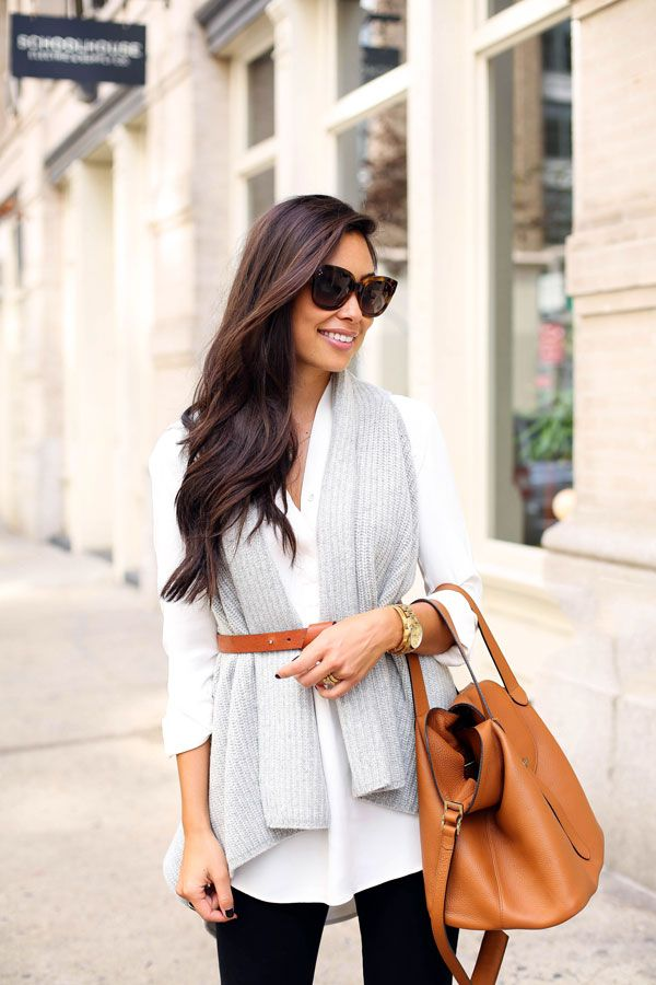 Picture Of chic layered outfits for work  17