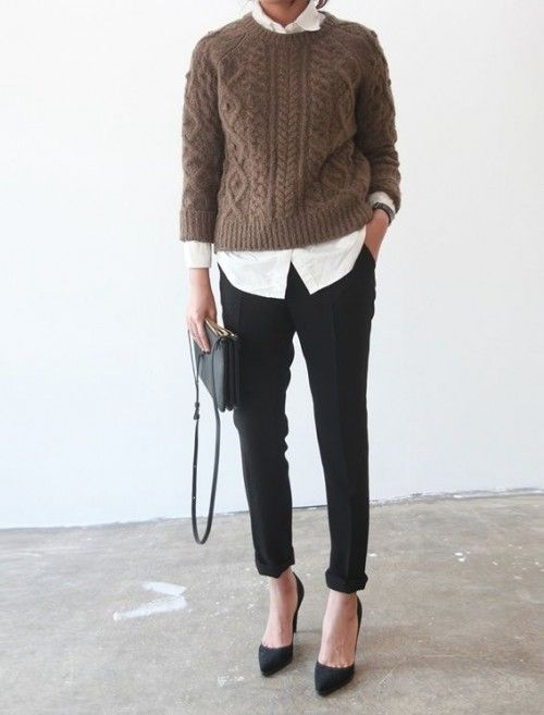 Picture Of chic layered outfits for work  7