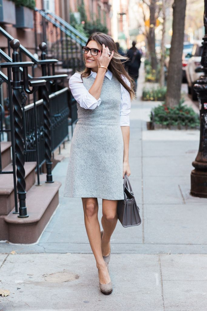 Picture Of chic layered outfits for work  9