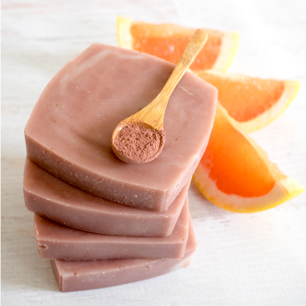DIY Pink Grapefruit And Clay Soap For Sensitive Skin