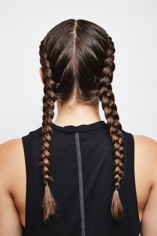 Picture Of easy diy double dutch braids for a better workout  2