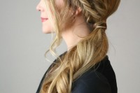 easy-diy-double-fishtail-side-ponytail-2
