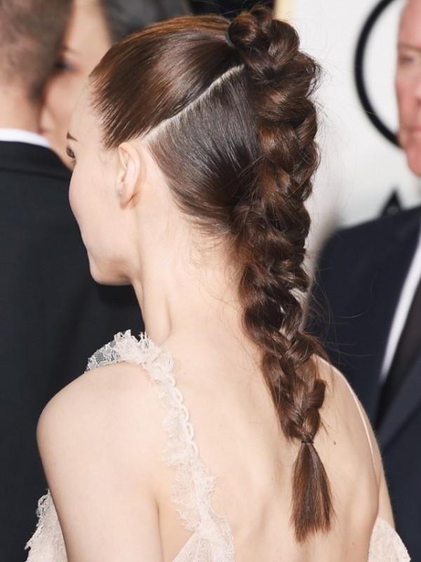 How To Recreate Rooney Mara's Braided Ponytail At Golden Globes