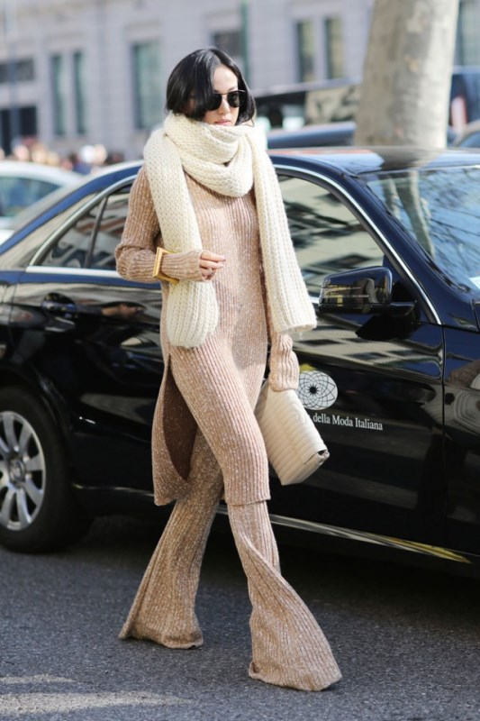 Picture Of how to wear double knits right 11 trendy and cool ideas to recreate  8