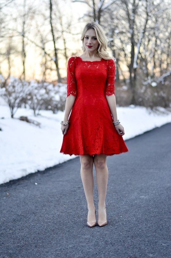 30 Sexy Little Red Dresses For Valentine's Day |