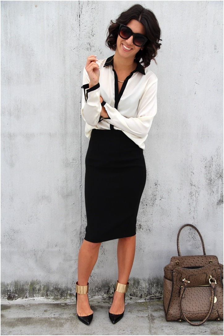 Picture Of stylish monochromatic work outfits to try  20