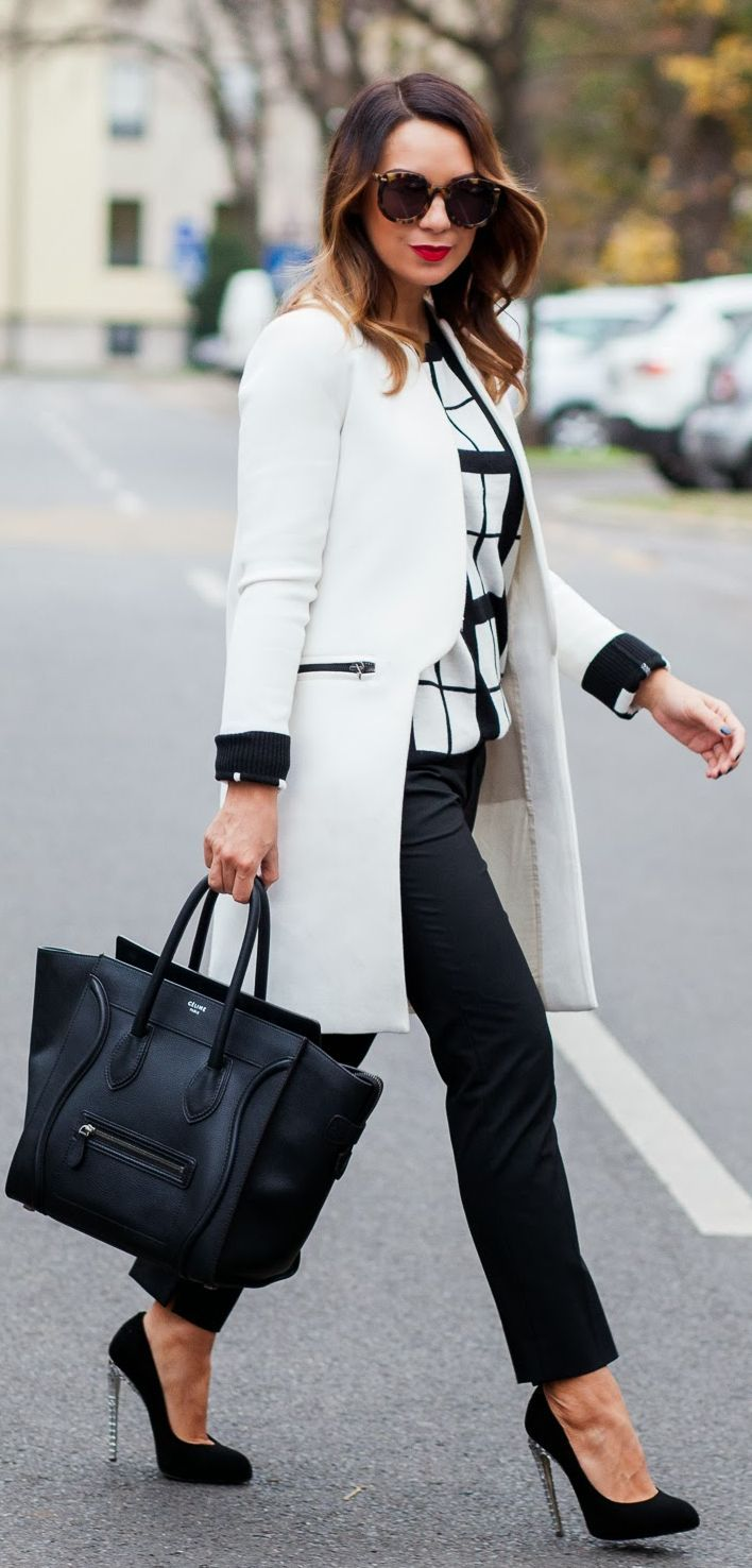 Stylish Monochromatic Work Outfits That Aren't Boring