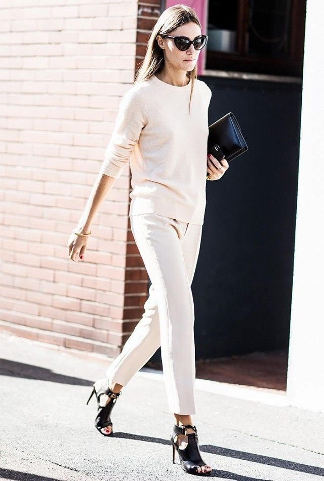 Picture Of stylish monochromatic work outfits to try  7