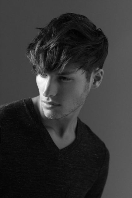 Picture Of Angular Fringe Hairstyle Ideas For Men 16