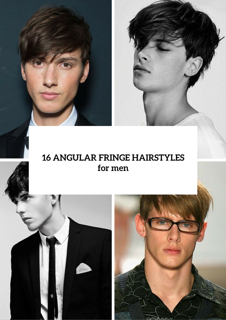 Picture Of Angular Fringe Hairstyle Ideas For Men 17