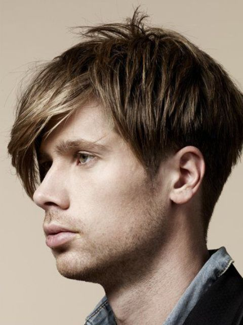 Picture Of Angular Fringe Hairstyle Ideas For Men 2