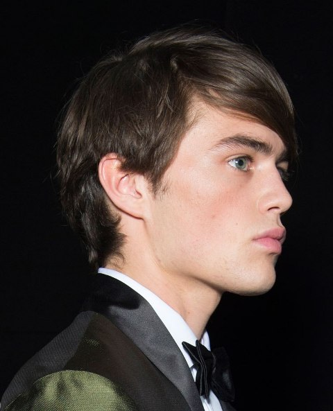 Picture Of Angular Fringe Hairstyle Ideas For Men 7