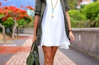 16 Green Army Jacket Outfits For Stylish Girls11