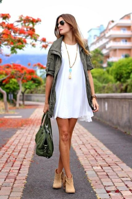 Picture Of Green Army Jacket Outfits For Stylish Girls 11
