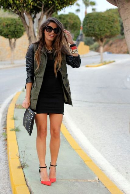 Picture Of Green Army Jacket Outfits For Stylish Girls 14