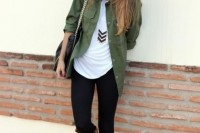 16 Green Army Jacket Outfits For Stylish Girls15