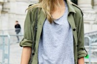 16 Green Army Jacket Outfits For Stylish Girls3