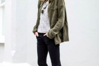16 Green Army Jacket Outfits For Stylish Girls4