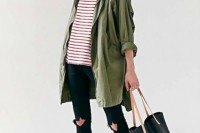 16 Green Army Jacket Outfits For Stylish Girls5