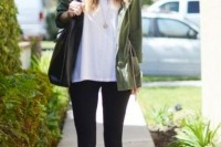 16 Green Army Jacket Outfits For Stylish Girls7