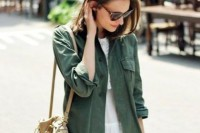 16 Green Army Jacket Outfits For Stylish Girls8