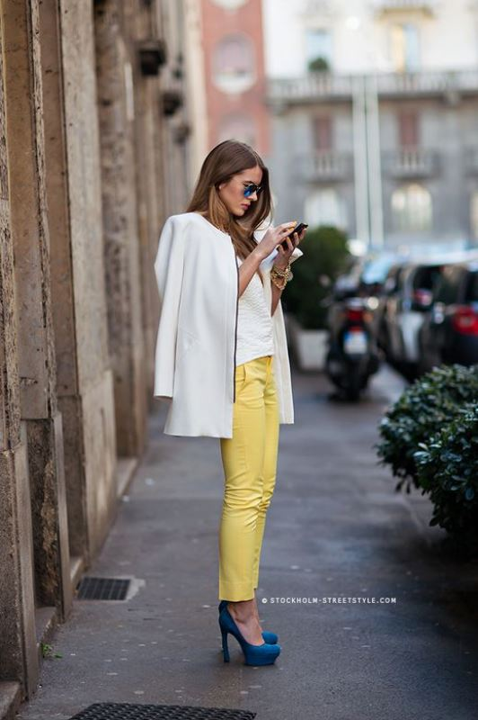 Picture Of looks that will make you want to wear colored pants this spring  10