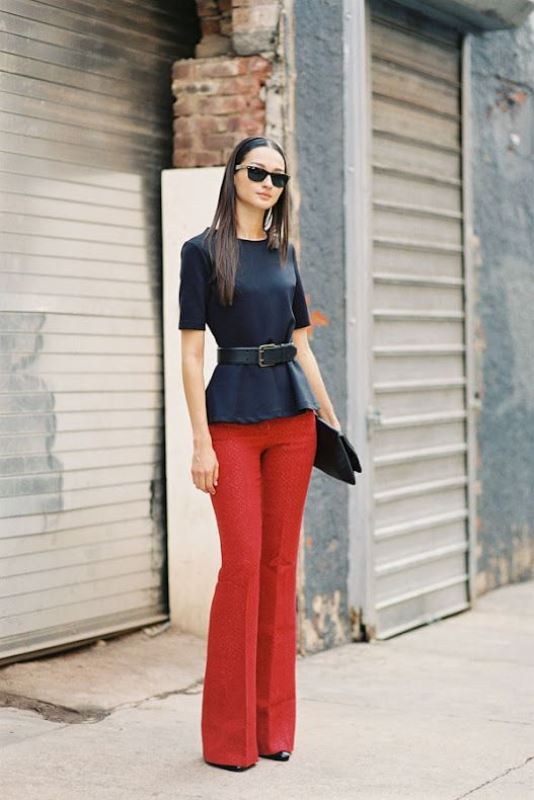 Picture Of looks that will make you want to wear colored pants this spring  14