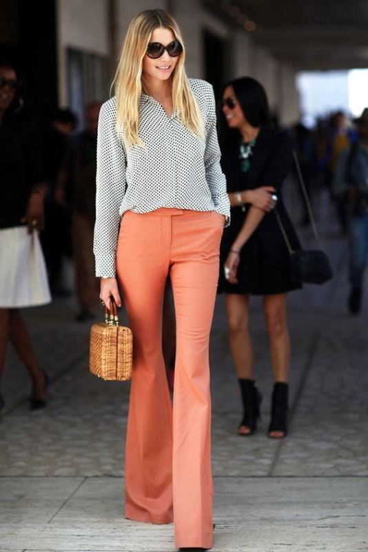 Picture Of looks that will make you want to wear colored pants this spring  2