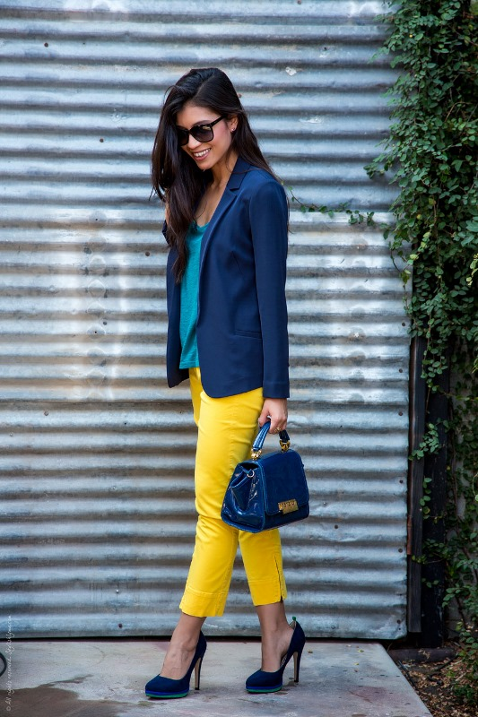 Picture Of looks that will make you want to wear colored pants this spring  7