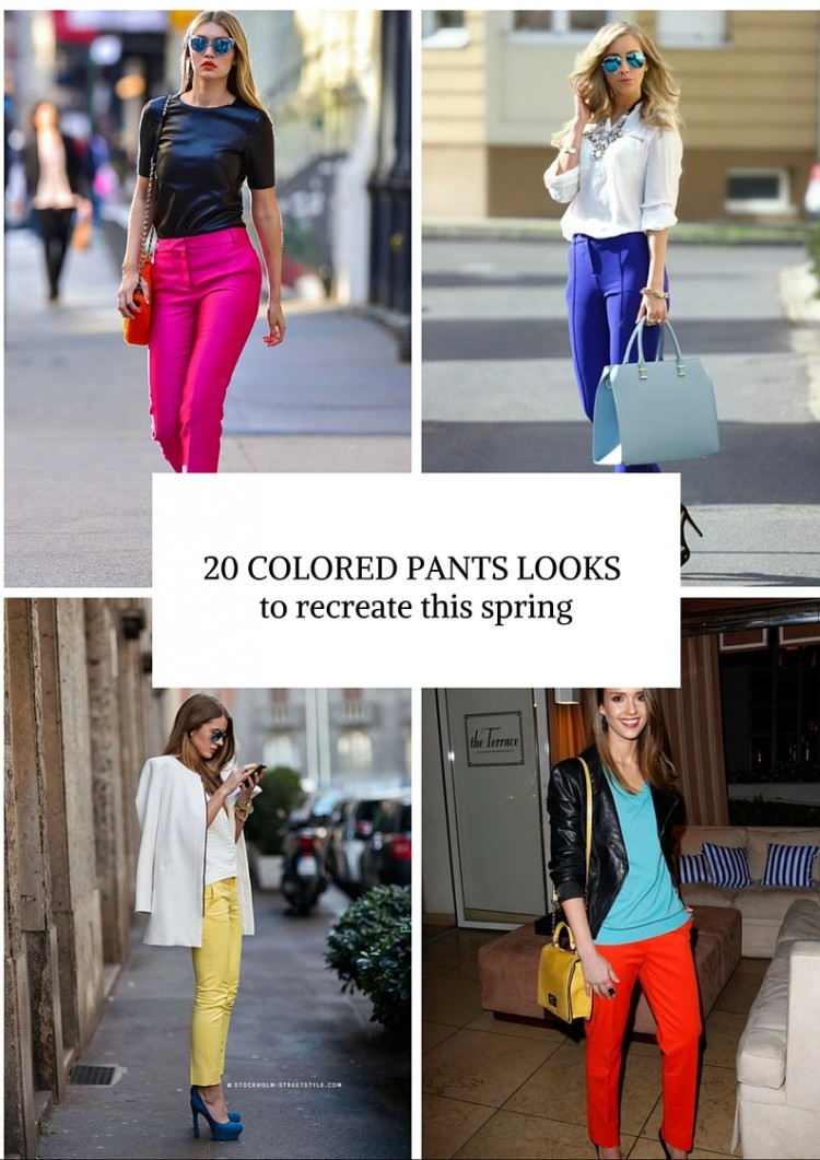 20 Looks That Will Make You Want To Wear Colored Pants This Spring