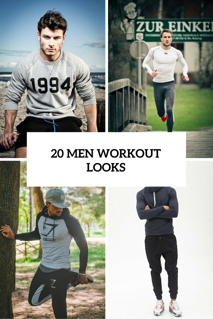 20 Sexy And Comfy Men Workout Outfits
