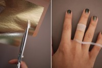Chic DIY Gold Leaf Faux Jewelry 3